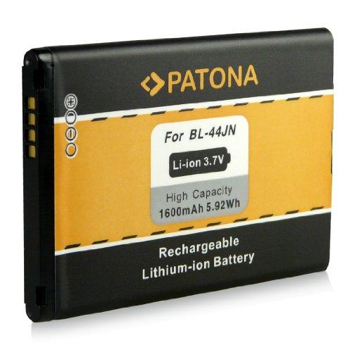 Akku / Batterie wie BL-44JN für LG Optimus Black (P970) | Optimus Hub (E510) | Optimus L1 II (E410) | Optimus L3 (E400) | Optimus L3 II (E430) | Optimus L5 (E610) | Optimus Net (P690) | Optimus Sol (E730) [ Li-ion 1600mAh / 3.7V ]