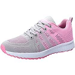Logobeing Zapatillas Deportivas de Mujer - Zapatos Sneakers Zapatillas Mujer Running Casual Yoga Calzado Deportivo de Exterior de Mujer 35-40 (38, Gris)