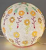 Boule Mosaïque Verre Lampe avec LED Guirlande Lumineuse Multicolore/motif fleur 20cm Formano