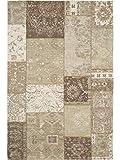 Benuta Flachgewebe Teppich Frencie Patchwork Beige 100x160 cm/Pflegeleichter Teppich für Flur und Andere Wohnräume