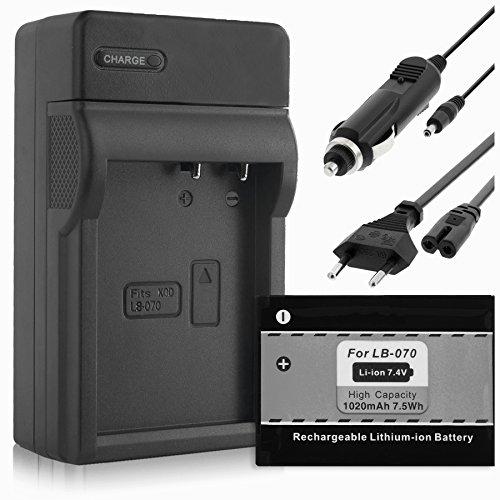 Batterie + Chargeur (Auto/Secteur) pour Kodak LB-070 / PIXPRO S-1 S1 / PIXPRO AZ651