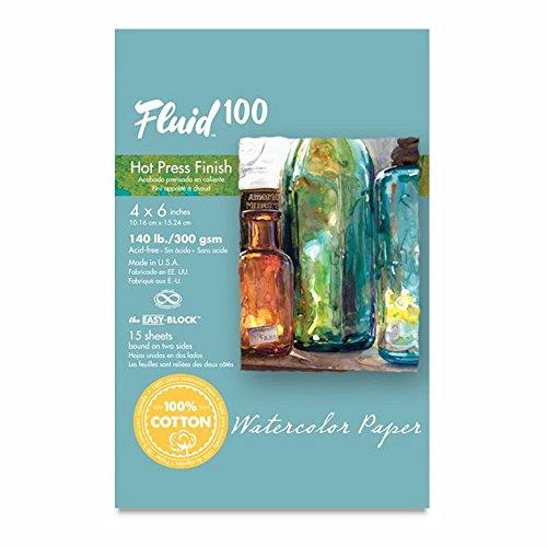 Fluid 100 Aquarell Hp 140lb Ez-Block-4X6 (Lb-aquarell-block 140)
