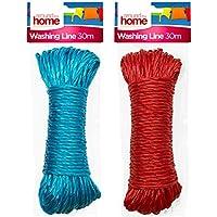 Around The Home Cuerda de polipropileno resistente para tender la ropa, exteriores y usos múltiples 30 Metros