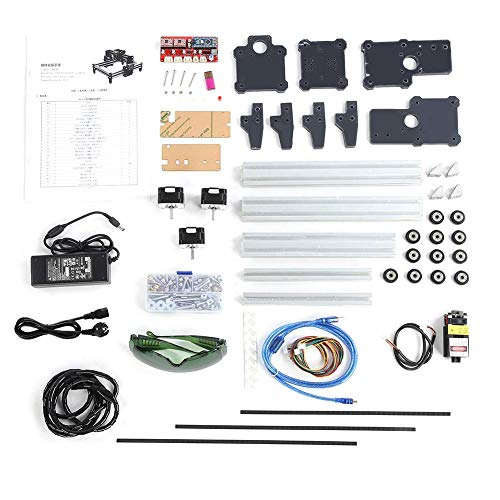 Graviermaschine, 100-240VAC 2.5W DIY Mini Desktop Gravur Schneidemaschinen Printer Kit(EU plug) -
