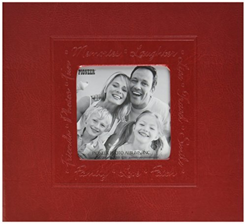 Pioneer Photo Albums Scrapbook & Embossed Script Cover with Frame Cut Out, 8 x 8, 10 Sheets by Pioneer Photo Albums (Pioneer 8x8 Scrapbook Album)