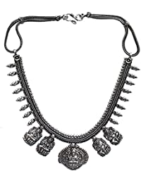 Lucky Jewellery Oxidised Silver Color Alloy Necklace For Gilrls & Women - B0786JH2W8