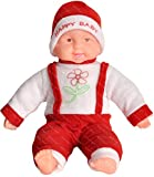#7: Richy Toys Laughing Baby Stuffed Soft Plush Toy Love Girl (Red)