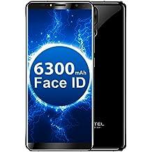 Oukitel K6 - Smartphone libre FHD de 6 pulgadas (relación 18: 9) + Display Face ID 6GB RAM 64GB ROM 6300mAh Batería 21MP+8MP Cámara Trasera 13MP + 8MP Cámara Frontal Android 7.1 5V/3A Flash Charge Huellas Dactilares NFC