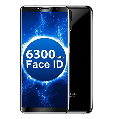 OUKITEL K6 Smartphone in offerta 6.0inch FHD Full Dual Curved Design Schermo 6 GB di RAM + 64 GB di ROM MediaTek MT6763 Batteria Dural 6300mAh ID Viso Sblocco Istantaneo Funzione NFC Fotocamera da 21 MP + 13 MP (Nero)