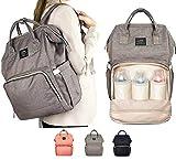 Multifunzione bambino borsa fasciatoio grigio colore, zaino da viaggio impermeabile borsa per pannolini per il bebè, grande capacità