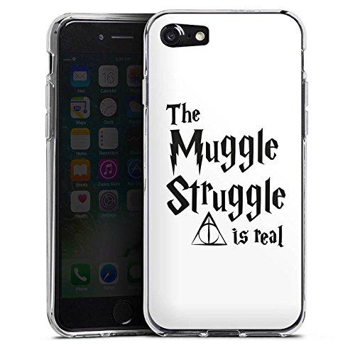 Apple iPhone 8 Hülle Case Handyhülle Harry Potter Muggle Struggle Statement Silikon Case transparent