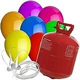 50 Luftballons Ø 25 cm Farbe frei wählbar mit Helium Ballon Gas Hochzeit Geburtstag Komplettset (Gemischt)