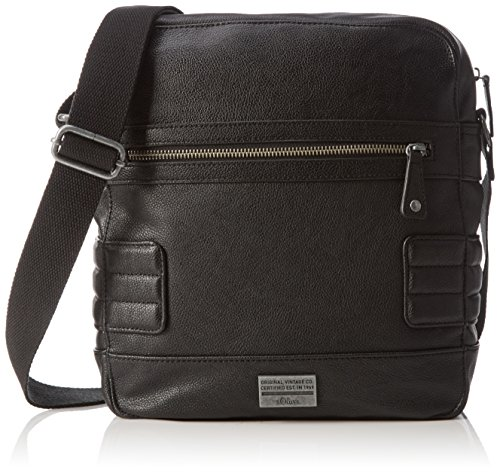 s.Oliver CITY BAG, Borsa a spalla uomo Nero Schwarz (black 9999) 27x29x9 cm (B x H x T)