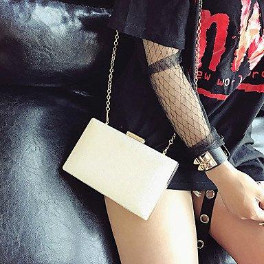 KYS Damen PU Kuss-Verschluss Weiß Schwarz Grau White
