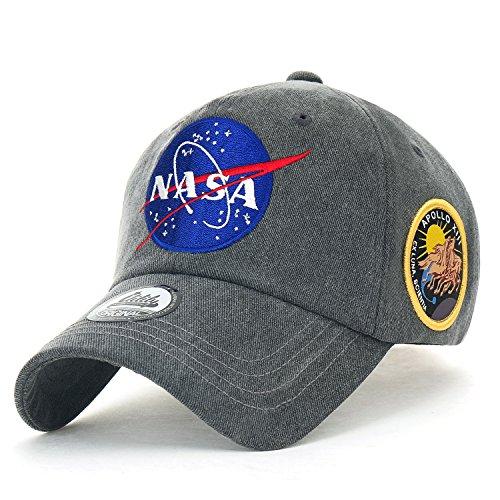fe6e76b6946 ililily NASA Meatball Logo Embroidery Baseball Cap Apollo 13 Patch Trucker  Hat (Medium