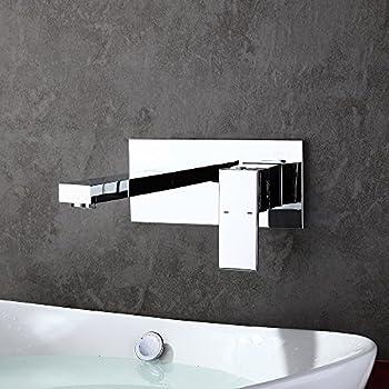 homelody robinet mural mitigeur encastrer chrom design pour lavabo vasque mousseur abs monocommande robinetterie salle - Robinet Mural Salle De Bain