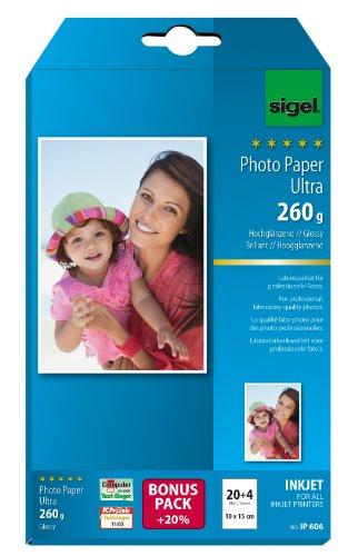 sigel-ip606-papier-photo-jet-dencre-ultra-pack-promo-10-x-15-cm-24-feuilles-260-g-haute-brillance-bl