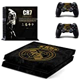 Hytech Plus : CR7 Theme Sticker for PS4 Console and 2 Controllers