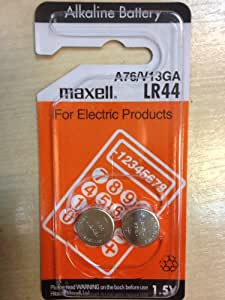 Maxell - Pile bouton alcaline blister LR44 MAXELL 1.5V 110mAh - 1,5V 110mAh
