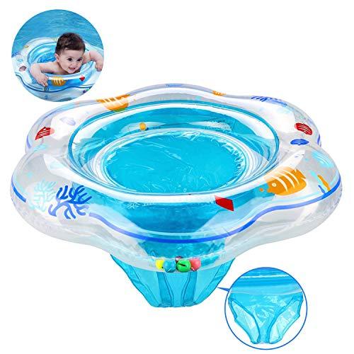 SRXWO Baby Schwimmring mit Schwimmsitz, aufblasbare Baby Schwimmring für Kleinkind Schwimmhilfe Spielzeug, Baby Pool Schwimmen Float für Kinder Planschbecken 6 Monaten bis 3 Jahren (Blau)
