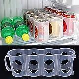 réfrigérateur Boîte de rangement, peut de bière boissons support Portable Meuble de cuisine peu encombrant canettes Finition réfrigérateur Organiseur randomly color aléatoire