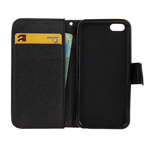 PU Silikon Schutzhülle Handyhülle Painted pc case cover hülle Handy-Fall-Haut Shell Abdeckungen für Smartphone Apple iPhone 5C +Staubstecker (8XO) 5