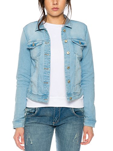 Only Damen Denim Jeans Jacket ONLY19176 Hellblau Denim S