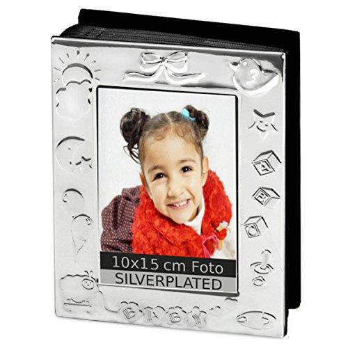 Fotoalbum Baby 10x15 cm Foto Silber Plated versilbert