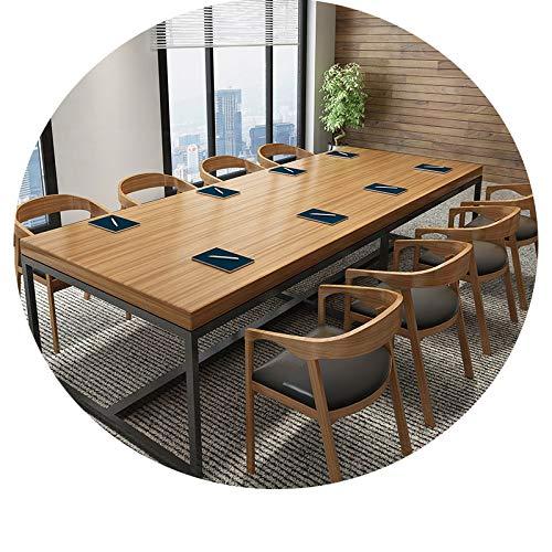 JZX Schreibtisch Aus Schmiedeeisen, Konferenztisch, Langer Tisch, Esstisch, Verhandlungstisch Für Schulungen, Moderner Computertisch,300 * 100 * 75,5...
