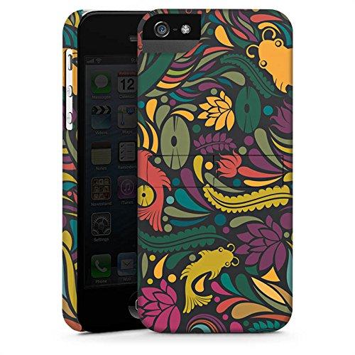 Apple iPhone X Silikon Hülle Case Schutzhülle Flower Fische Muster Premium Case StandUp
