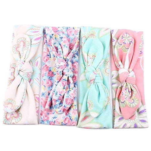 niceEshop(TM) Baby Boutique Girls Ribbon Bowknot Hair Clips and Rabbit Ear Headbands