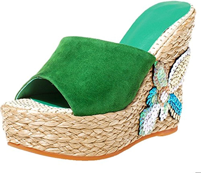 Gemütlich Sommer-Piste mit Outdoor-Pantoffeln Mode-Open-toed-Schuhe High-heeled wilde Schuhe (2 Farben optionalö