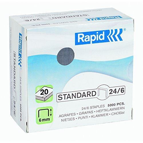 Rapid Heftklammer (24/6 mm Standard, verzinkt) 5000 Stück
