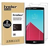 [2 Pack] LG G4 Protector de Pantalla, iVoler [0.3mm Dureza 9H] Protector de Pantalla de Vidrio Templado Cristal Protector para LG G4 -Dureza de Grado 9H, Espesor 0,30 mm, 2.5D Round Edge-[Ultra-trasparente] [Anti-golpe] [Ajuste Perfecto] [No hay Burbujas]- Garantía Incondicional de 18 Meses