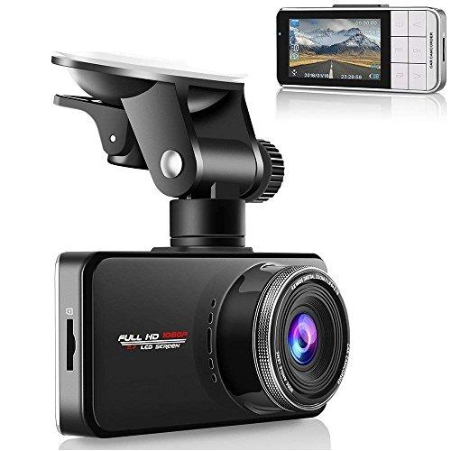 Modohe Caméra de Voiture, Dash Cam Embarquée, L'enregistreur de Conduite Full HD 1080P DVR 170°Grand Angle, Dashcam Enregistreur, Capteur-G, Enregistrement en Boucle, Détection de Mouvement