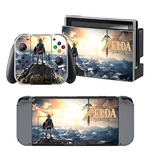 Nintendo Switch + Controller Aufkleber Schutzfolien Set - Zelda (3) /Switch
