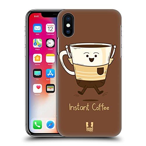 Head Case Designs Espresso Personalità Del Caffè Cover Retro Rigida per Apple iPhone X Caffe Istantaneo
