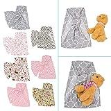 Vivianu Puppe Tragetuch Ring Sling Mei Tai Sling Spielzeug für Kinder Kleinkind Geschenk Streifen Blumen 7 Auswahl 1