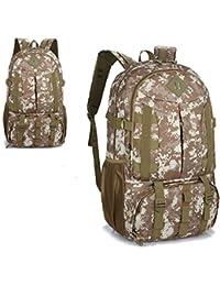 esoons mochila al aire libre Montañismo Viajes Casual Tejido de Nylon bolsa de camuflaje grande mochila, Desert Digital