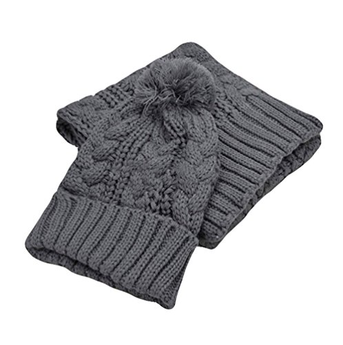 Da.WA in autunno inverno sciarpa e cappello set per le donne grey
