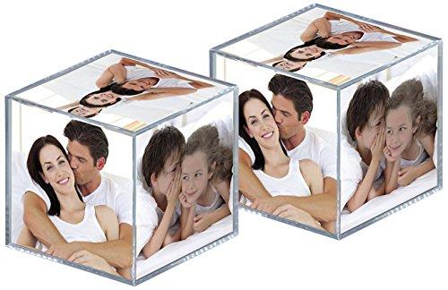 Portafotos cubo rotante