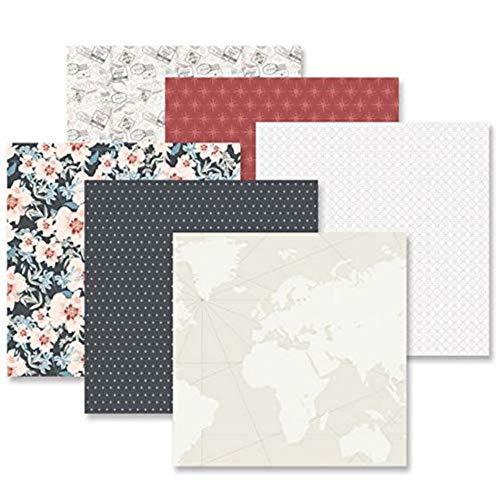 Creative Memories Travel Log Deko-Papier, 12 Blatt doppelseitig, 30,5 x 30,5 cm -