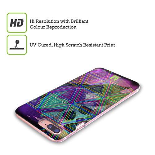 Head Case Designs Triangolo Colonna Neon Pattern Cover Retro Rigida per Apple iPhone X Illusione Triangolo