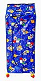 #3: Nagar International 5 shelves multipupose folding wardrobe blue for kids storage