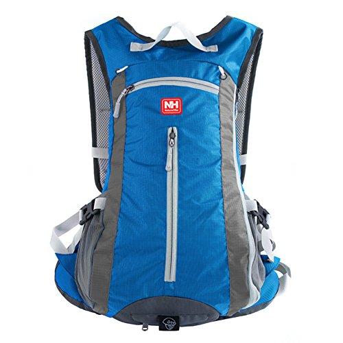 Outdoor peak Unisex Nylon wasserabweisend handlich Ultrasport Wanderrucksack gute Gasdurchlaessigkeit Radfahrrad Trekkingrucksack Reisetasche Laptop-Tasche Schultasche Bergsteigen Arbeitestasche 15Lit Blau
