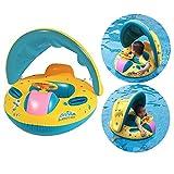Itian Gonfiabile Bambino anello di nuoto del galleggiante boa seggiolino auto con parasoil e mutandina per Bambini