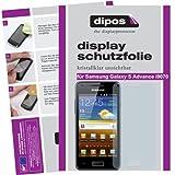 dipos Pellicola protettiva per Samsung Galaxy S Advance i9070 (confezione da 2 pezzi) - cristallo pellicola di protezione del display