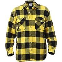Rothco amarillo peso pesado adicional Brawny Buffalo camisa de franela a cuadros Amarillo amarillo Talla:XXXXL