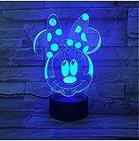 3D Acryl Nachtlicht Cartoon Mickey Mouse 3D Lampe 7 Farben Ändern Nachtlicht 5 V Usb Tischlampe Nachtstimmung Licht Für Kinder Lava Lampe Drop Shipping