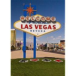 YongFoto 1,5x2,2m Vinyl Toile de Fond Bienvenue Fabulous Las Vegas Signe Casino Lmark Panneaux signalisation Tour Tourisme Fond Décors Studio Photo Portrait Video Fete Mariage Photographie Accesorios